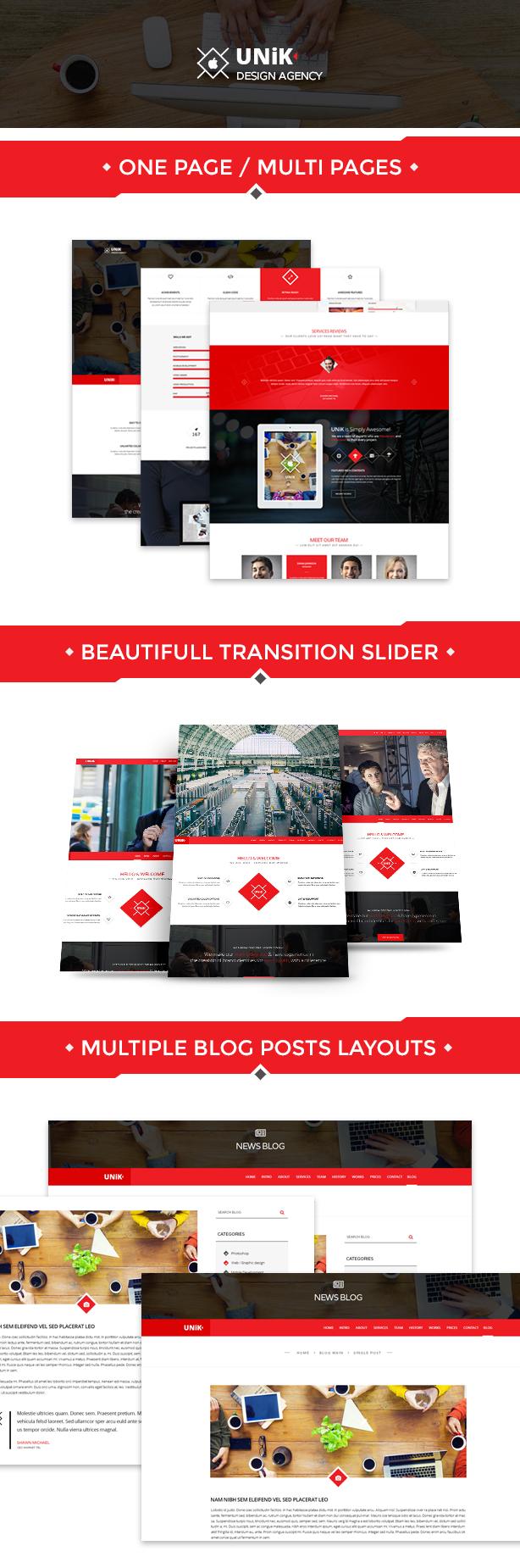 Unik - Creative Multipurpose HTML Template