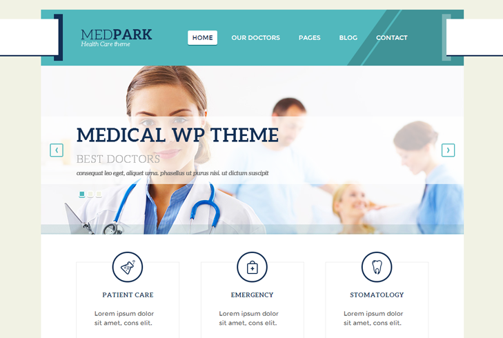 MedPark WP Theme slide1