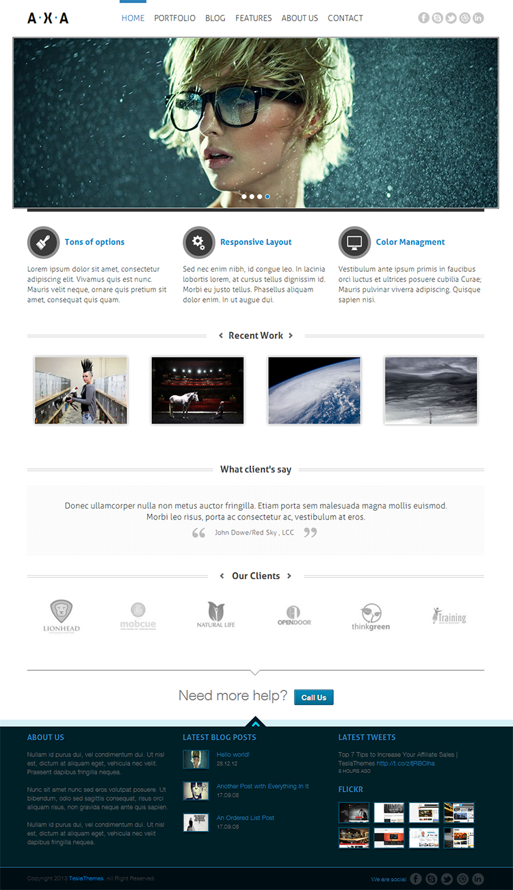 Axa WordPress Theme