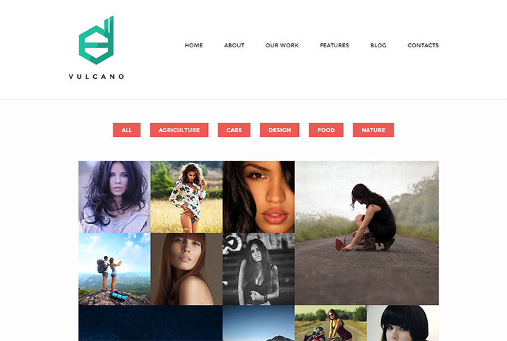 Vulcano WordPress Theme slide2