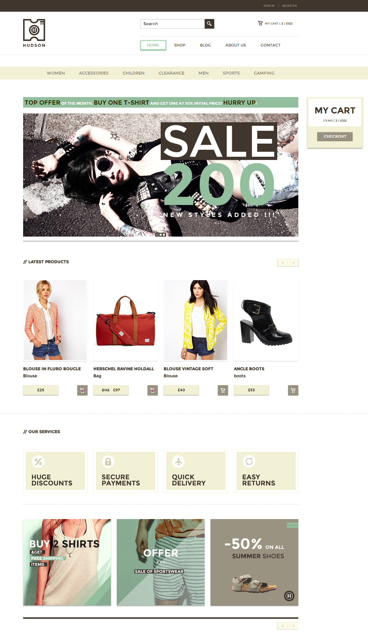 Hudson - eCommerce WordPress Theme