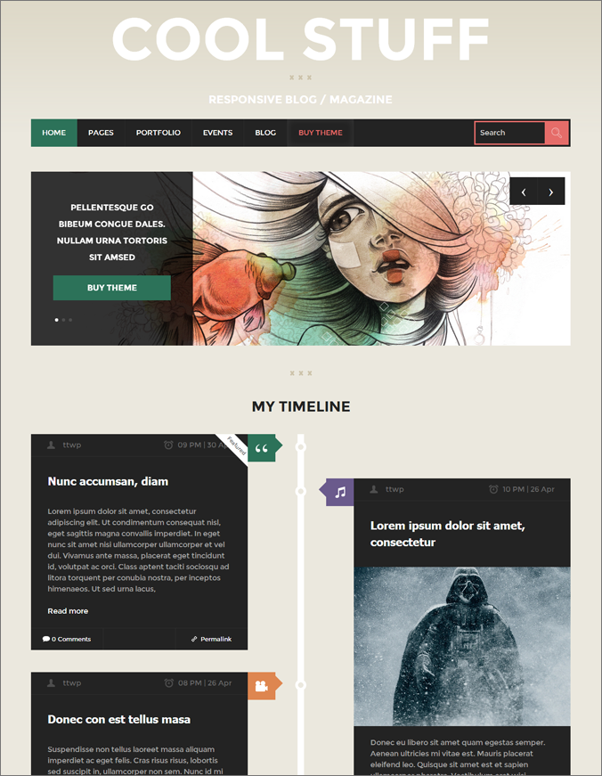 Cool Stuff WP Theme