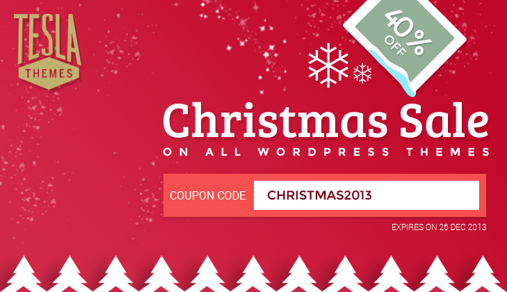 christmas special 40 off on all wordpress themes teslathemes