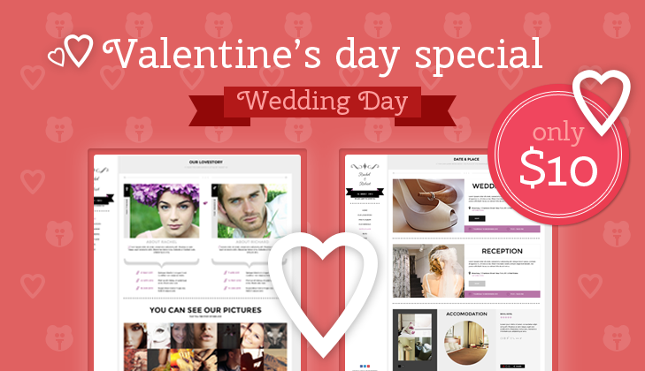 Valentine's Day Special: Get our Wedding Theme for only ...
