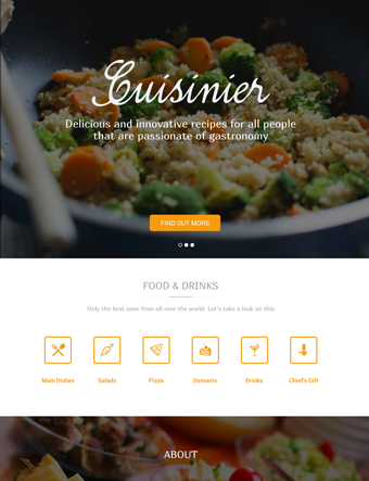 Cuisinier wp theme