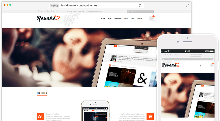 Revoke by Tesla Themes best wordpress premium themes